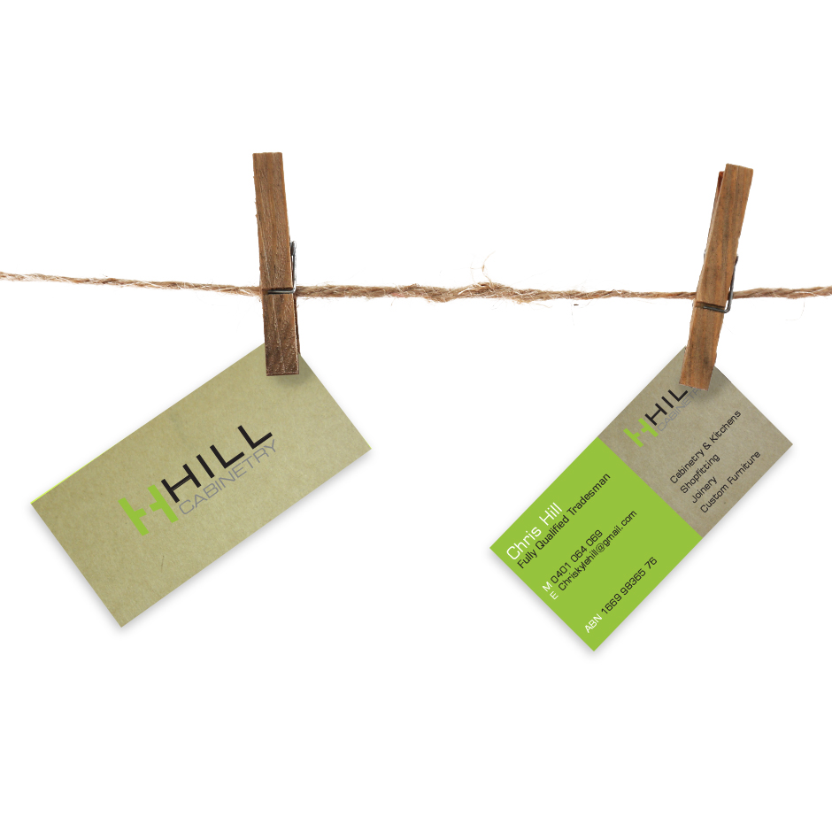 Hill Cabinetry Business Cards by Joel Riddell Creative