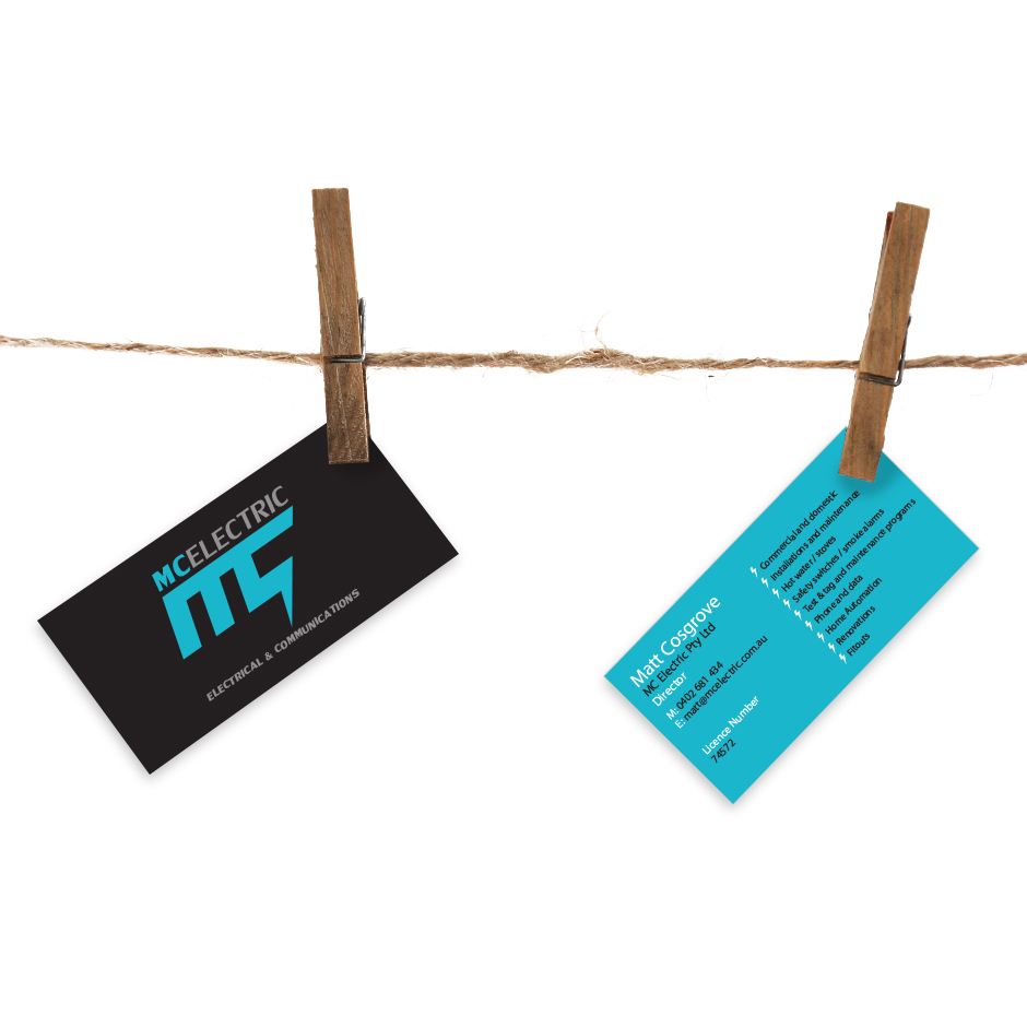 MC Electric Business Cards by Joel Riddell Creative