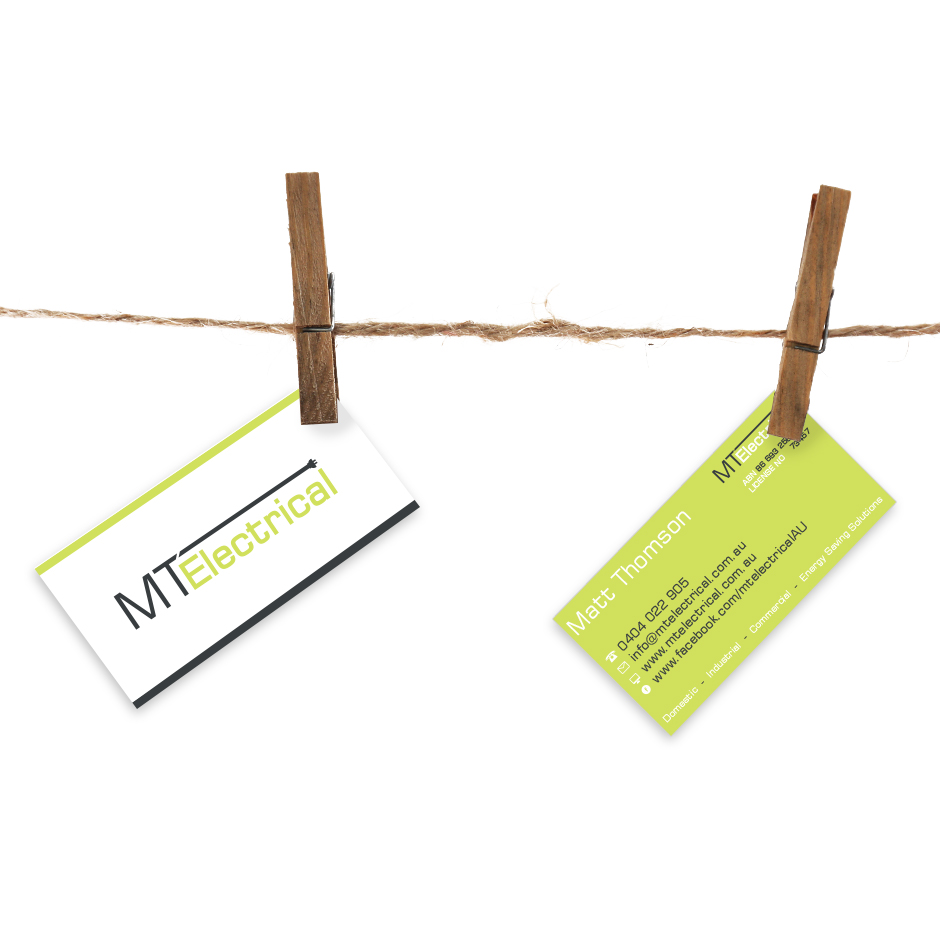 MT Electric Business Cards by Joel Riddell Creative